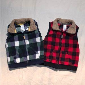 Bundle! 2 Fleece Vests
